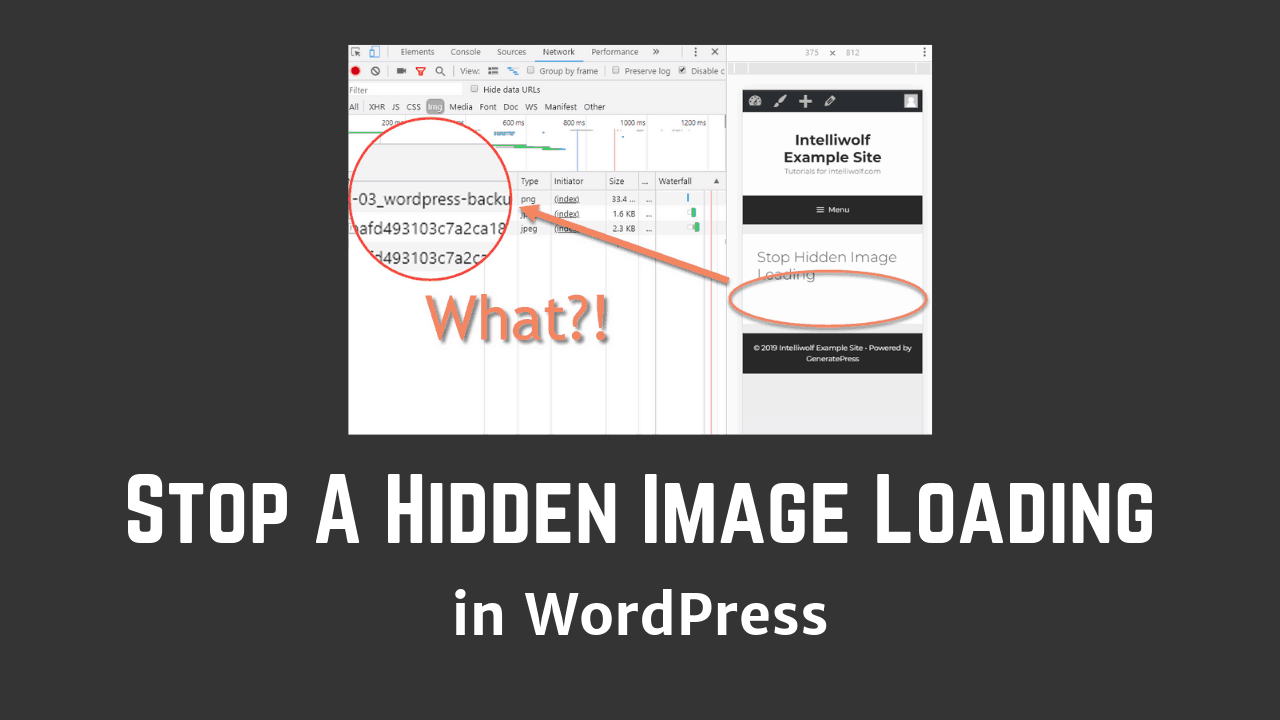 How To Stop A Hidden WordPress Image Loading On Mobile